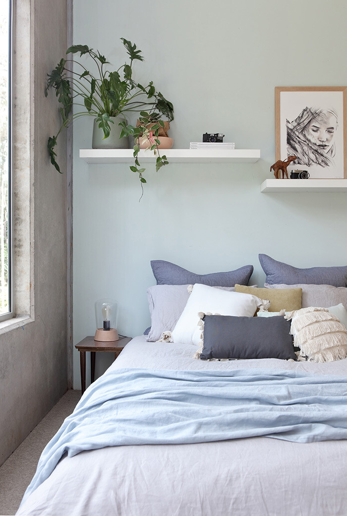 Interior bedroom styling